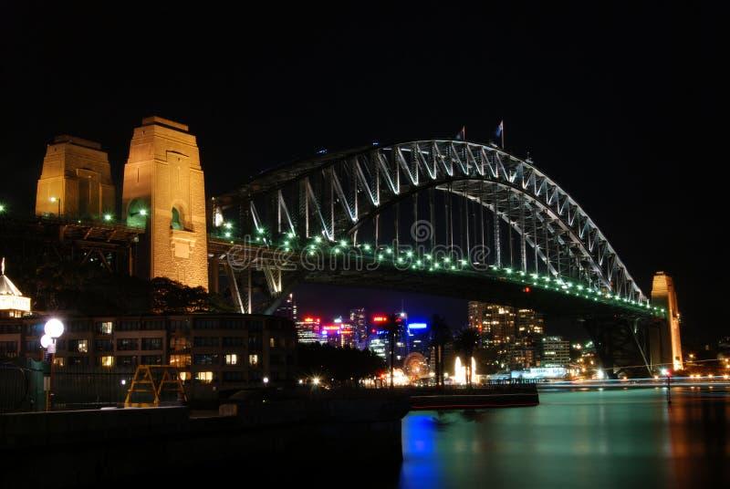 Sydney Harbour Bridge At Night. NSW, Australia, Oceania royalty free stock image