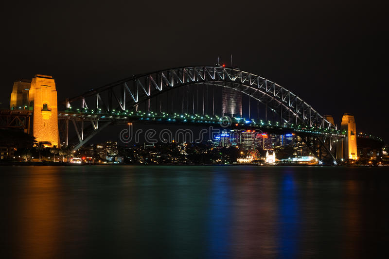 Download Sydney Harbour Bridge By Night Editorial Photography - Image: 20244637