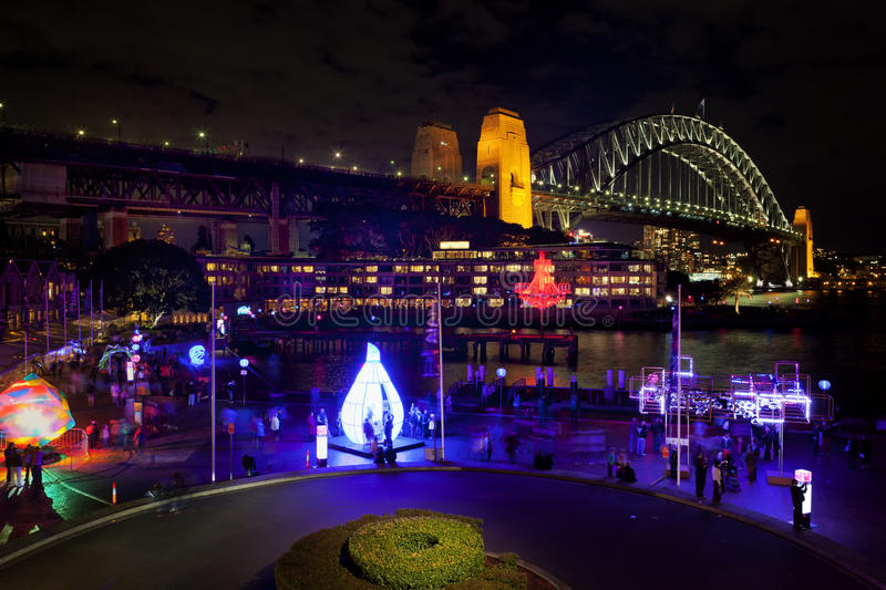 Download Sydney Harbour Bridge By Night Editorial Photography - Image: 25100992