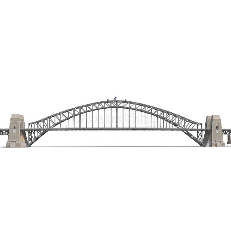 Free Sydney Harbour Bridge On White. Side View. 3D Illustration Stock Photography - 96080172