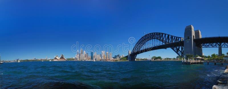 Sydney Harbour Bridge Panorama royalty free stock photo