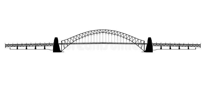 Sydney Harbour Bridge Silhouette stock abbildung