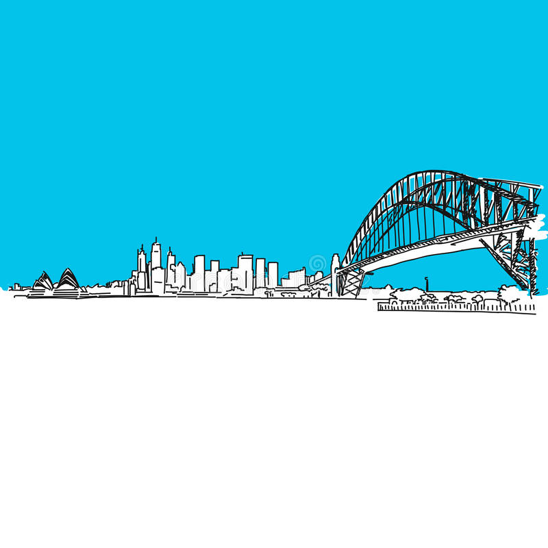 Sydney Harbour bridge Skyline vector illustration