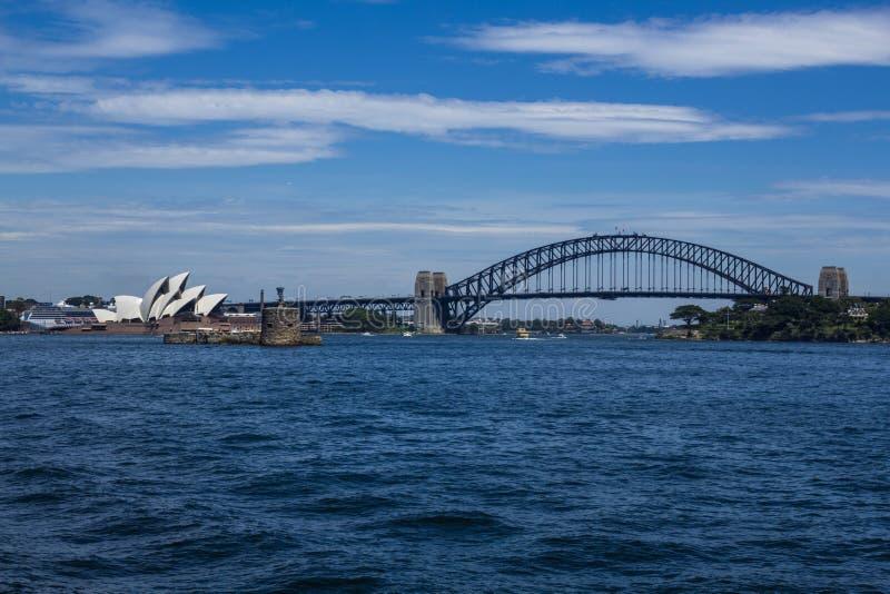 Sydney Harbour i en härlig dag royaltyfri fotografi