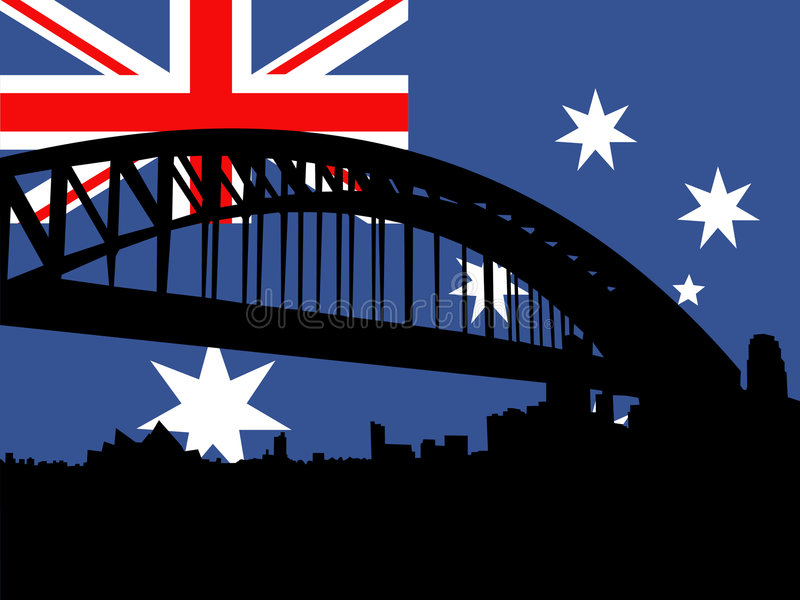 Sydney harbour mostu ilustracja wektor