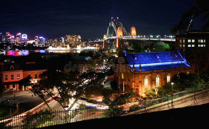 Sydney Harbour By Night, Australia Stock Photos