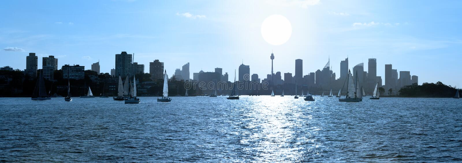 Sydney Harbour Skyline Australia Banner stock photos