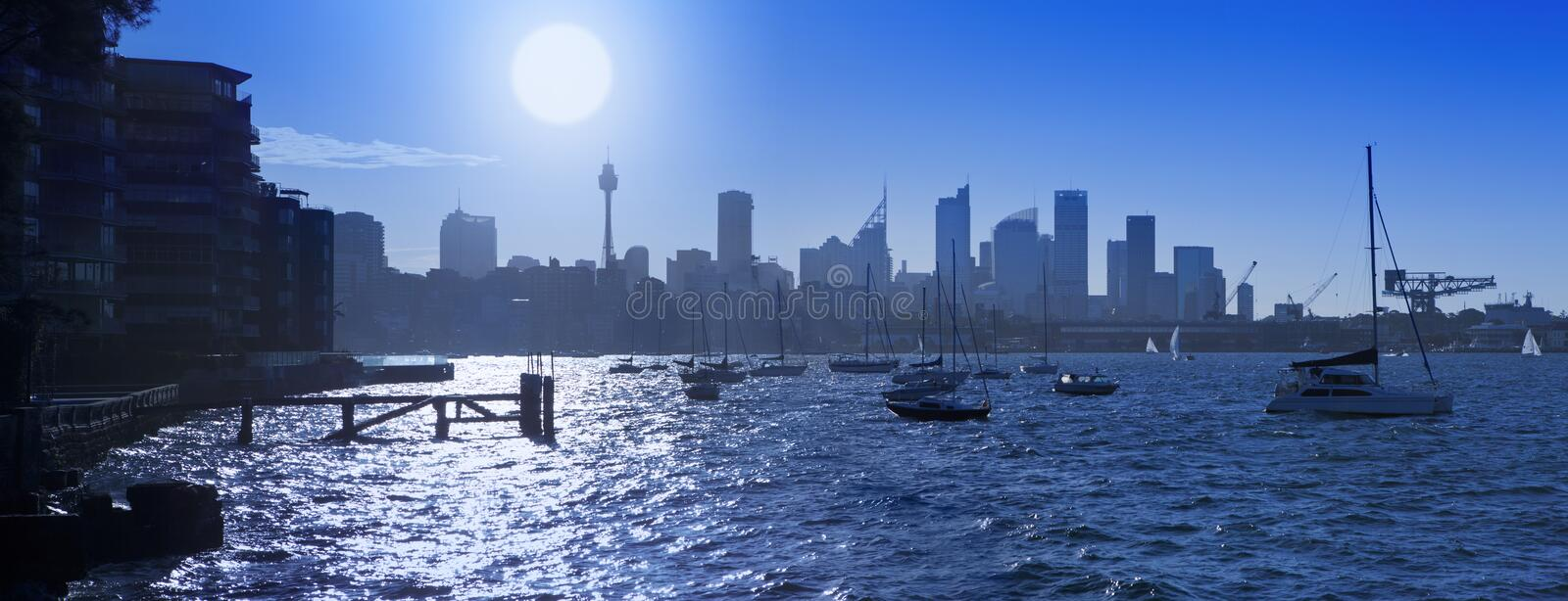 Sydney Harbour Skyline Australia royalty free stock image