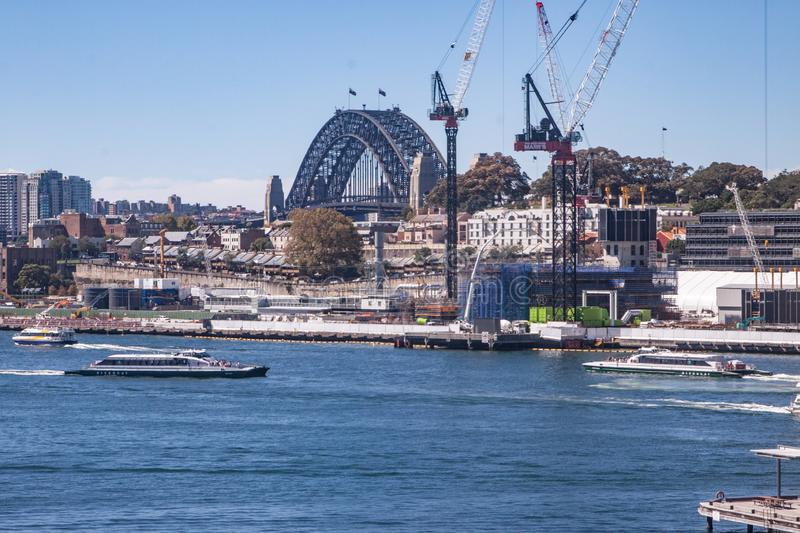 Sydney Harbour and Sydney Harbour Bridge stock images