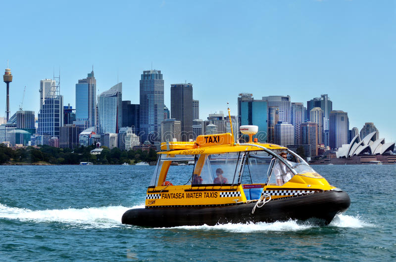 Sydney Harbour Water Taxis Sydney Australien New South Wales NSW fotografering för bildbyråer
