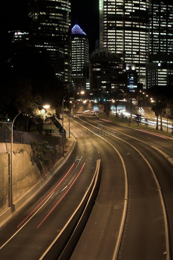 Sydney Highway at Night royalty free stock photo