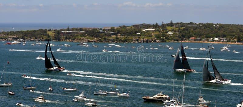 Sydney - Hobart Yacht Race 2014 royaltyfri foto