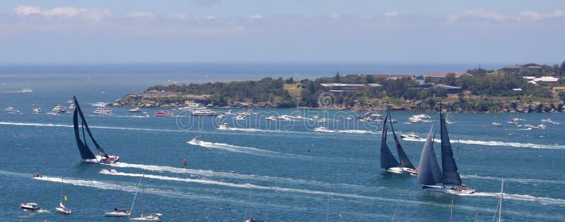 Sydney - Hobart Yacht Race 2014 royaltyfri fotografi