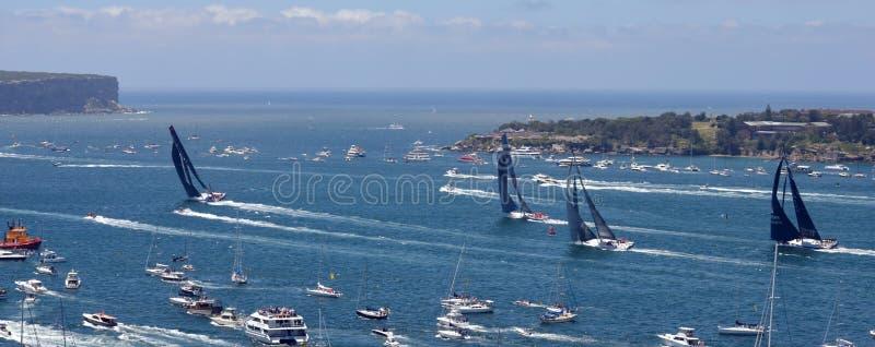 Sydney - Hobart Yacht Race 2014 royaltyfria foton