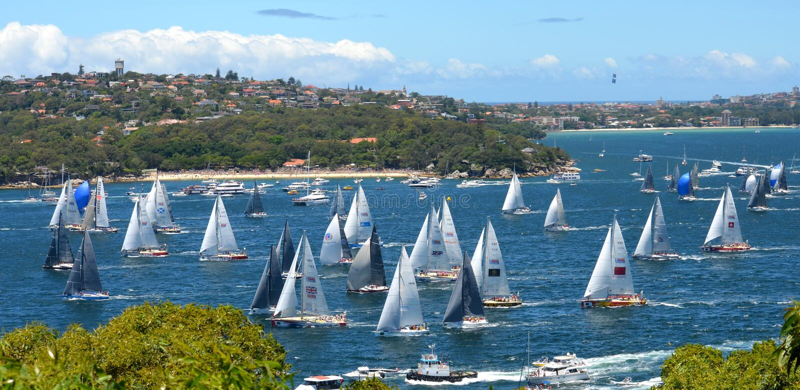 Sydney Hobart Yacht Race 2013 royaltyfria foton