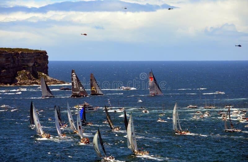 Sydney Hobart Yacht Race 2013 royaltyfri bild