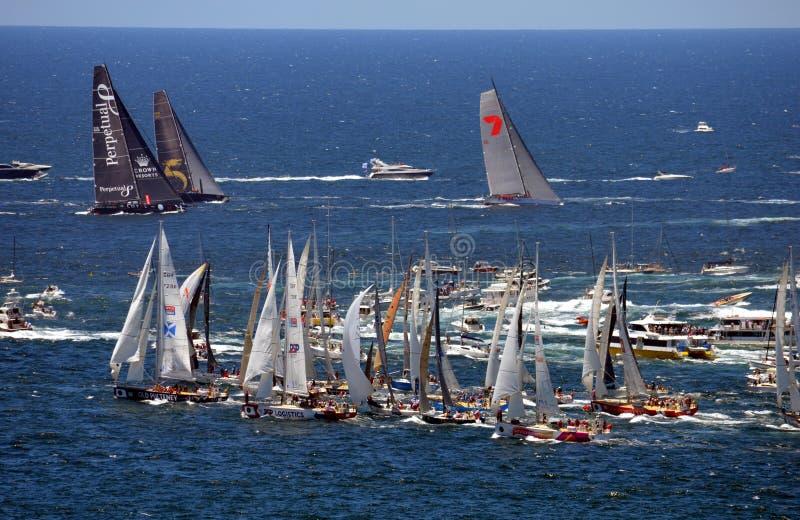 Sydney Hobart Yacht Race 2013 arkivfoton
