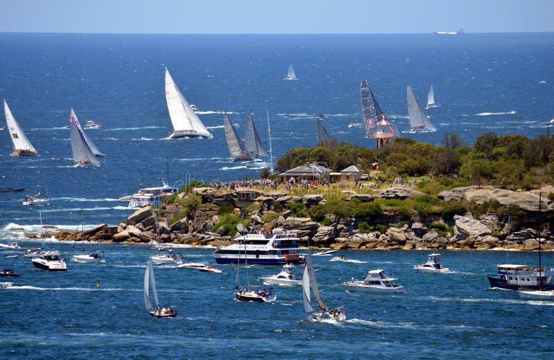 Sydney Hobart Yacht Race 2013 royaltyfri foto