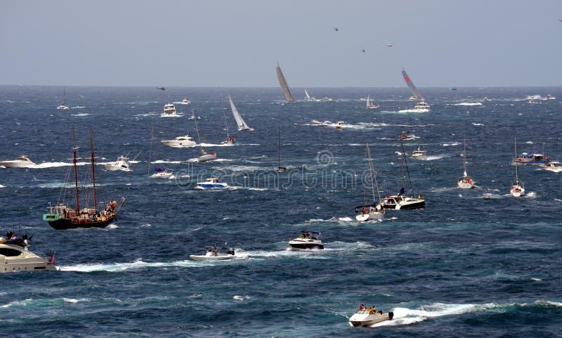 Sydney Hobart Yacht Race 2012 royaltyfria foton