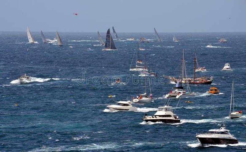 Sydney Hobart Yacht Race 2012 fotografering för bildbyråer