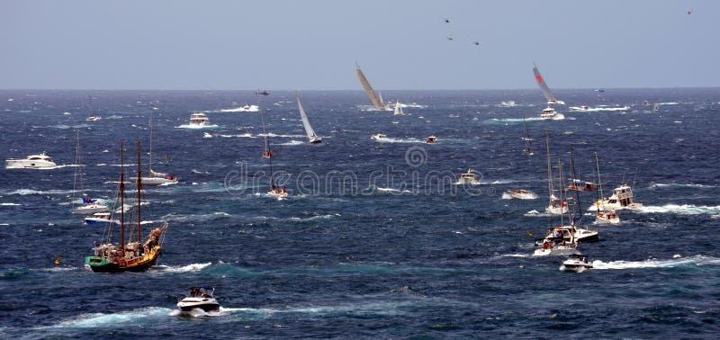Sydney Hobart Yacht Race 2012 royaltyfria bilder