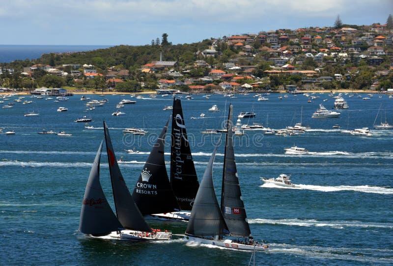 Sydney Hobart Yacht Race 2013 royalty free stock photo