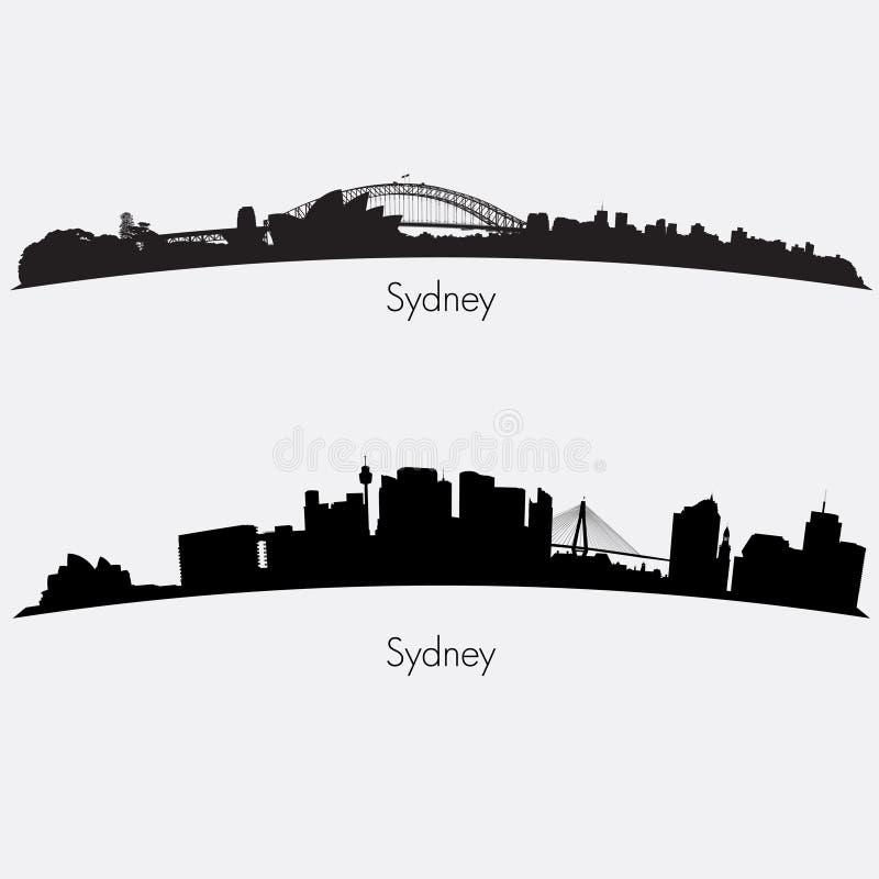 Sydney linie horyzontu ilustracji