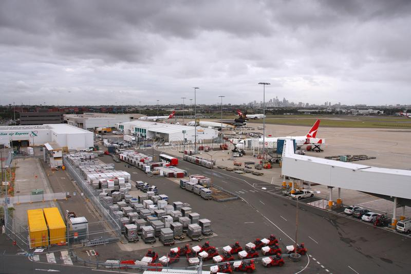 Sydney lotnisko zdjęcia royalty free