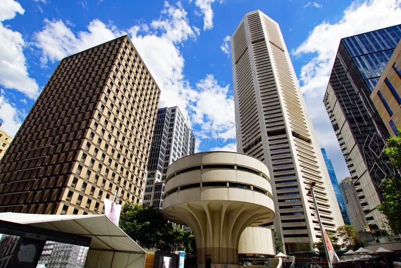 Sydney miasta architektura, Martin miejsce, Australia zdjęcie stock