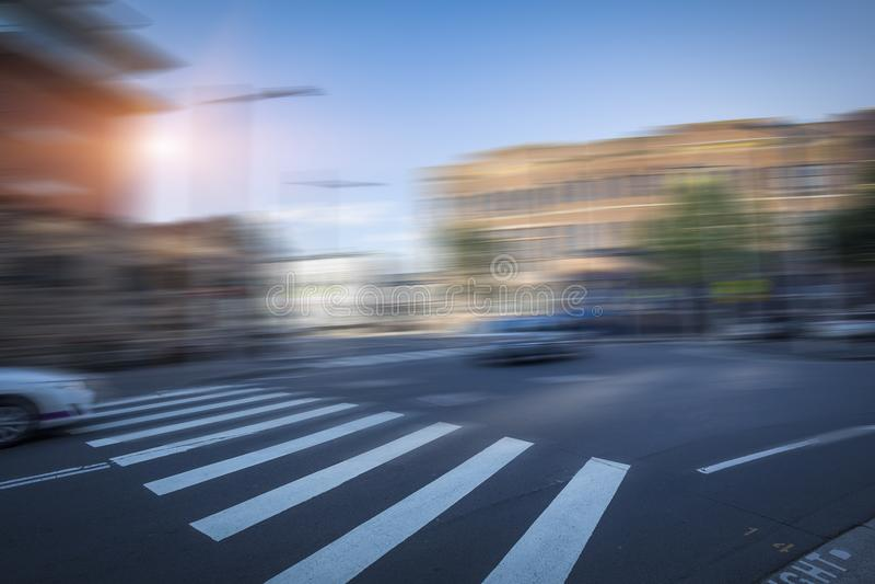 Sydney miasta ruch drogowy, zamazana droga zdjęcia royalty free