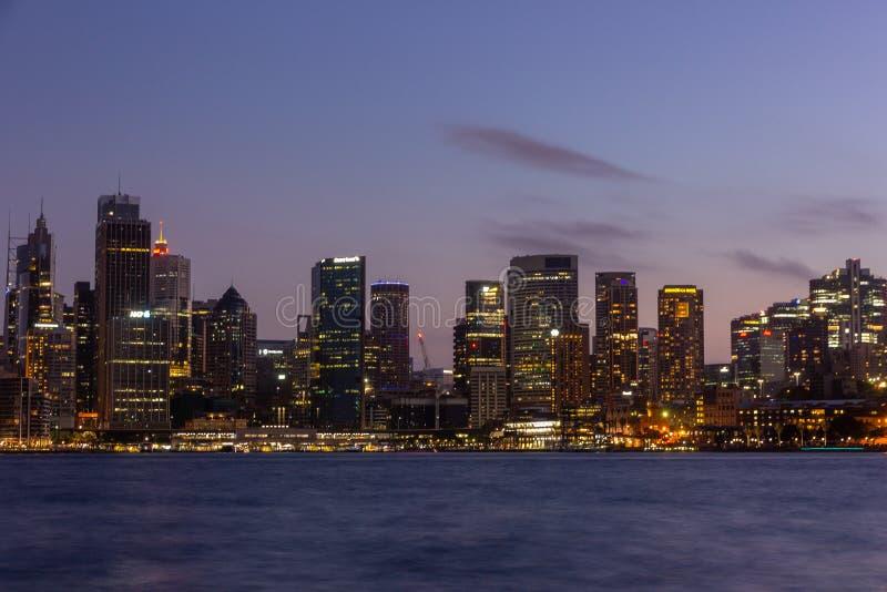 Sydney nachts stockbilder