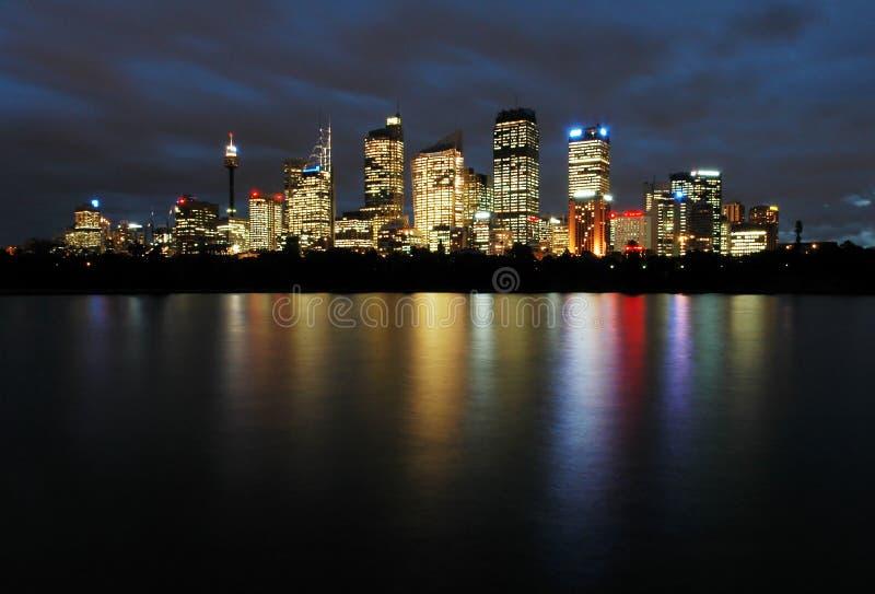 Sydney nachts lizenzfreies stockfoto