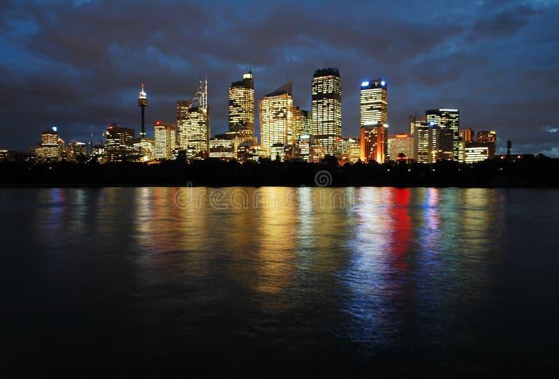 Sydney nachts lizenzfreies stockbild