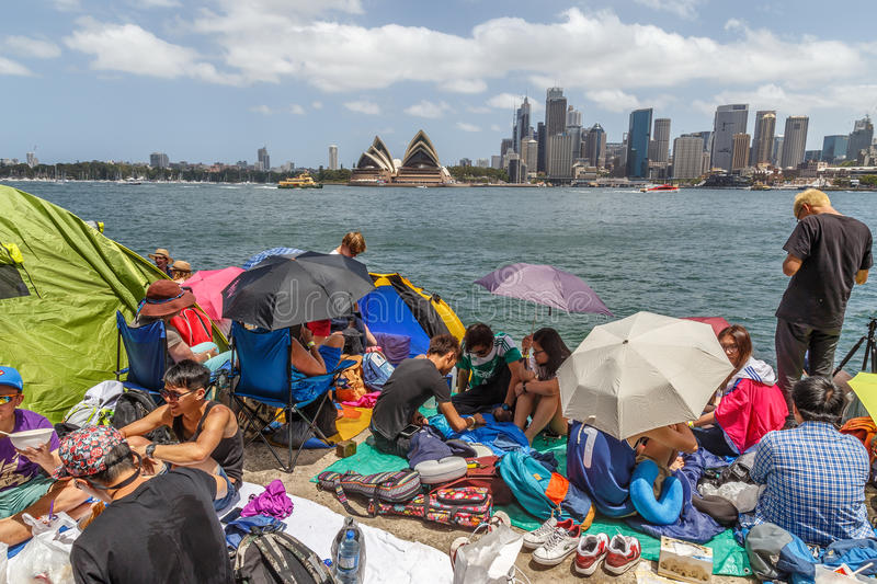 Sydney New Year`s Eve party royalty free stock photo