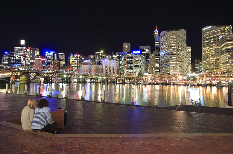 Sydney at Night royalty free stock photography