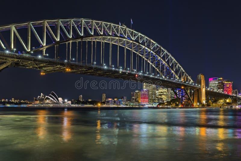 Sydney Night imagens de stock