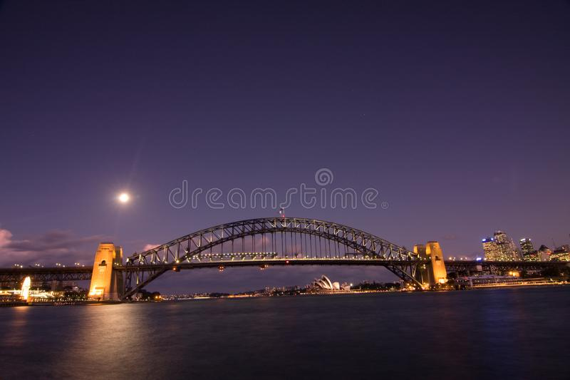 Sydney - Night City Skyline Stock Photos