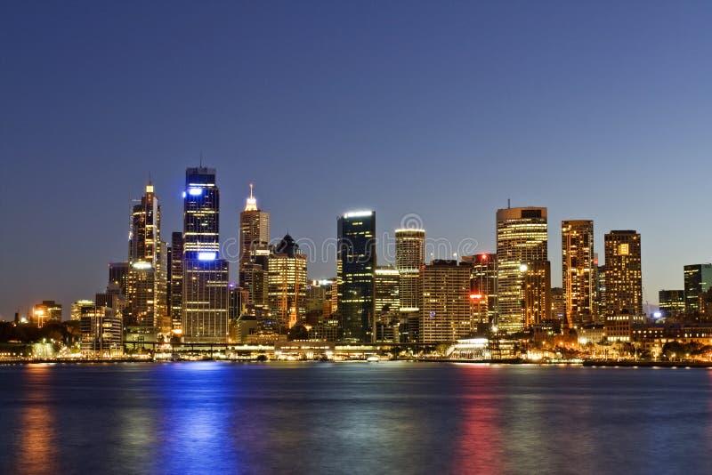 Sydney - Night Skyline. Taken during twightlight hour in Sydney. Sydney city skyline taken shortly after sunset stock images