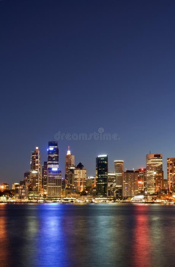 Sydney - Night Skyline. Taken during twightlight hour in Sydney. Sydney city skyline taken shortly after sunset stock photos