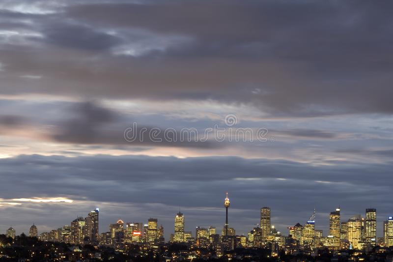 Sydney - Night Skyline royalty free stock images