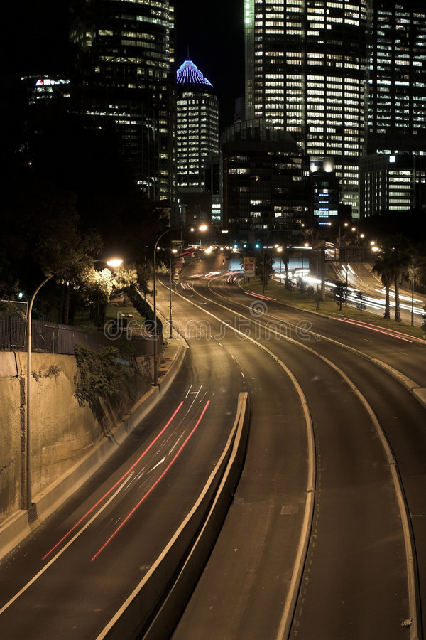 Sydney noc autostrady zdjęcie royalty free
