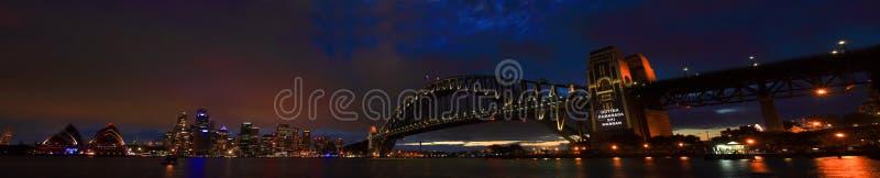 SYDNEY, NSW/AUSTRALIAER: Opinião do panorama do porto de Sydney. imagens de stock