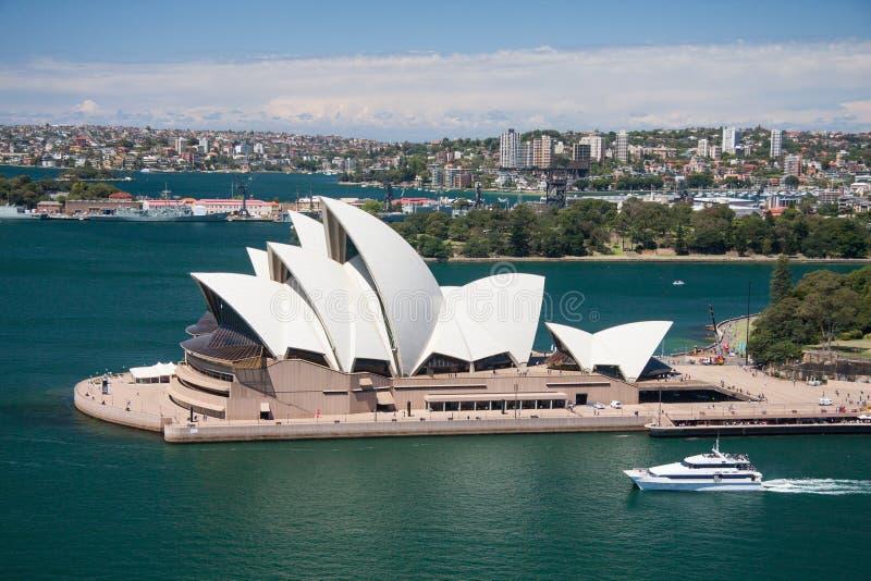 Sydney-October 2009 : Sydney Harbor Look From Harbour Bridge. Editorial Stock Photo