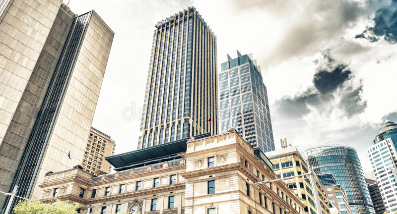 SYDNEY - OCTOBER 2015: Sydney buildings and skyline. Sydney attracts 30 million people annually royalty free stock photography