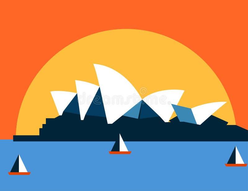 Sydney Opera House vektor illustrationer
