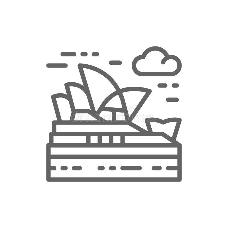 Sydney Opera House, Austr?lia, linha ?cone do marco ilustração royalty free
