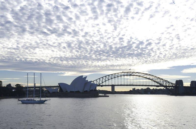 Sydney Opera House and Bridge stock image