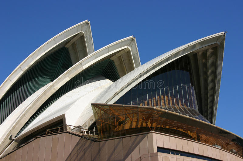 Sydney Opera House close up roof stock images