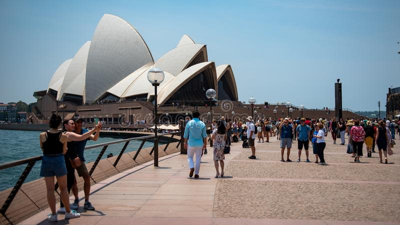 Sydney Opera House, december 2019 royalty-vrije stock fotografie