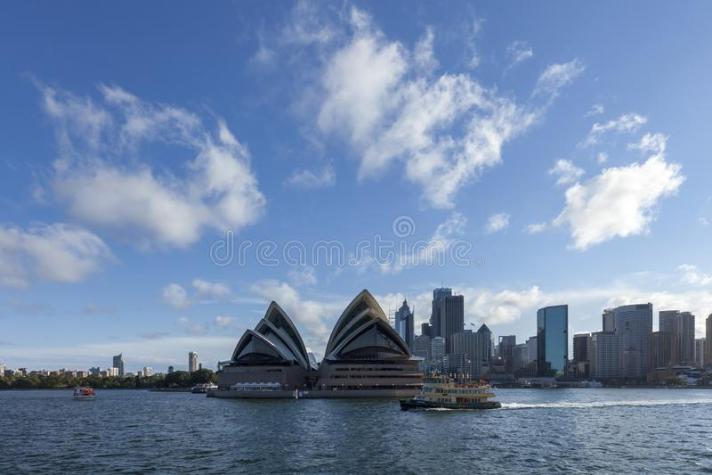 Sydney Opera House det berömda stället och symbolen i sydney Det bästa stället som ska besökas i Australien royaltyfri bild